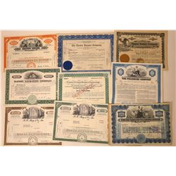 Stock Certificate Variety Group: Navigation, Telegraph, Food, Etc.  [113852]