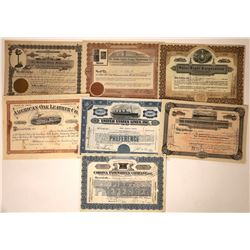 Stock Certificates with Nice Vignettes  [113854]
