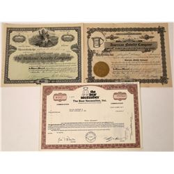 Toy & Novelty Company Stock Certificates  [127907]