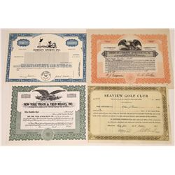 Sports Company Stock Certificates  [127882]