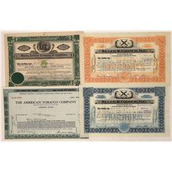 Tobacco & Cigar Stock Certificates (4)  [118760]