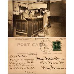 Hotel Crockett Real Photo Postcard  [128544]