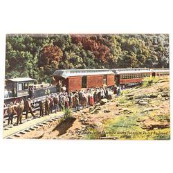 Yosemite Valley Railroad Early Postcard in Color  [128389]