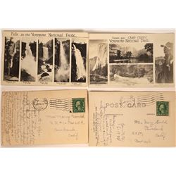 Camp Curry Postcards, Yosemite, California Showing Waterfalls, 1922 (2)  [128863]