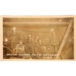 Underground Mining Real Photo Postcard  [128404]
