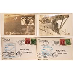 """Chas. Lindbergh """"First Airmail"""" Postcards dated 1929  [128862]"""