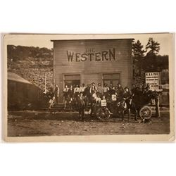 """Real Photo Postcard """"The Western""""  [128324]"""