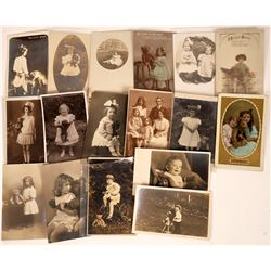 Children With Teddy Bear Real Photo Postcard Collection  [122370]