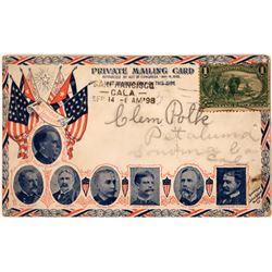 Pioneer Mailing Card 1898: American Leaders  [127943]
