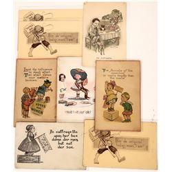 Suffragette Postcards With Children  [122382]