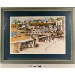 Capitola, The Espanada, Santa Cruz Framed Print by Sally Bookman  [124997]