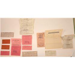 Ex-Civil War Soldier's (in California Volunteers) Legal Documents  [128844]