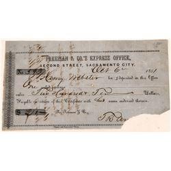 Freeman & Co's Express Office Deposit Receipt  [127952]