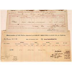 Gold Bullion Assay Receipts  [127958]