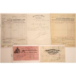 San Francisco Tobacco Dealers Billheads, 1874-1895 (5)  [128785]