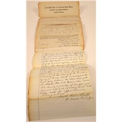 Judgment Against F. Burkhalter of Truckee, Meadow Lake Store & Front St. Lots, 1874  [128845]