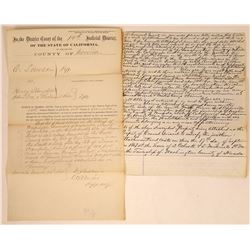 Washington, Cal. Court Docs Sieze Grissel Properties, 1869  [128837]