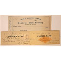 Rare Napa & Porterville Checks  [129293]