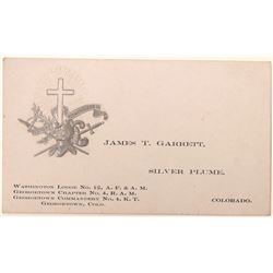 Silver Plume Fraternal Business Card  [126989]