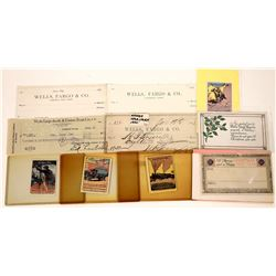 Wells Fargo Nevada Checks, Holiday Greetings and Adhesive Stamps  [127928]