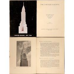 Chrysler Building Original Booklet, Black Velvet Cover, 1930  [128848]