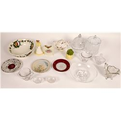 Antique China & Glassware Lot  [131300]
