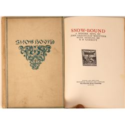 """Book, """"Snowbound """" With High Quality Engraved Photogravures, 2nd Ed. 1891  [129539]"""