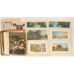 Calendar Art Featuring Women & Landscape Scenes  [127788]