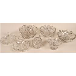 Cut Glass Lead Crystal Collection (7 pieces)  [121542]