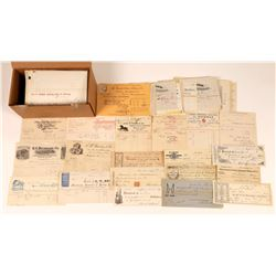 Extremely Large New England States Billhead & Receipt Collection