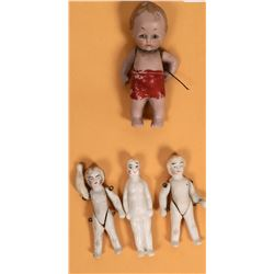 Tiny Ceramic Antique Dolls  [129113]