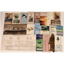 Vintage Travel Brochures of Hamburg-America Line  [128294]