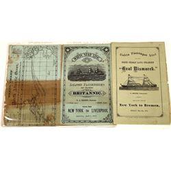 1870s Steamship Brochures  [128422]