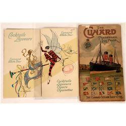 Cunard Steam Ship Line Ephemera  [128286]