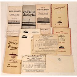 Queen Elizabeth Cruise Ship Ephemera Collection  [128288]