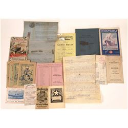 Steamship Ephemera Collection  [128425]