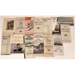 Vintage Swedish American Line Travel Brochures  [128292]