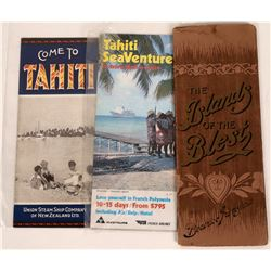Vintage Tahiti Travel Brochures  [128289]