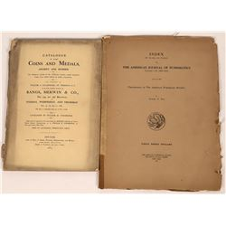 American Numismatic Society Journal/Bangs, Merwin & Co. 1863 Coin Catalog  [126991]