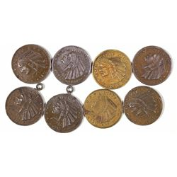 U.S. $5 Indian Head Counters Dated 1913  [128466]