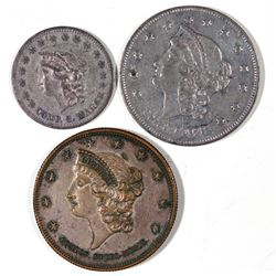 Silvered Liberty Head  U.S. Counters  [128518]