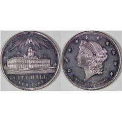 Rare Silvered $20 Counter  [128491]