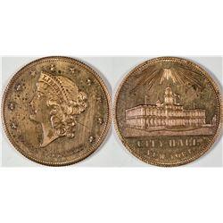 Gem Uncirculated $20 U.S. Counter  [128523]