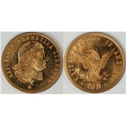 Argentina $10 Counter, Gem Uncirculated  [122843]