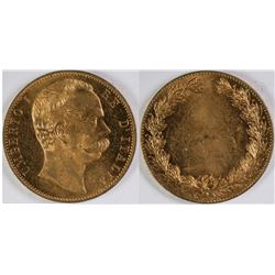 Circulated/AU Gold Plated Italian Counter  [123024]