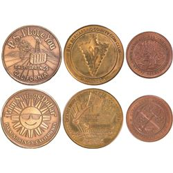 New hall, Palm Springs and San Berdoo Medals  [129940]