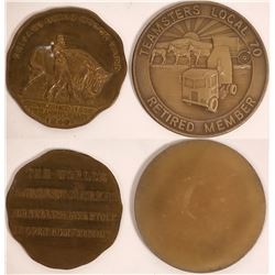 Chicago Stockyard Medal & Teamsters Union Medal  [129107]