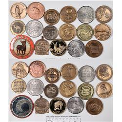 Animal Medals & Pocket Mirror  [129122]