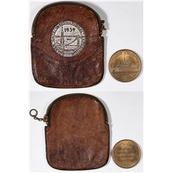 Coin Purse with So Called Dollar Image & HK 154 Worlds Columbian Exposition  [129135]