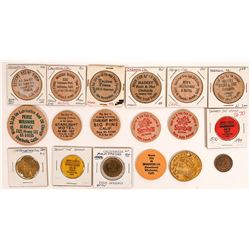 Inyo, Mono and Riverside County Wood  Tokens, Unsorted  (X-Lerch)  [131378]